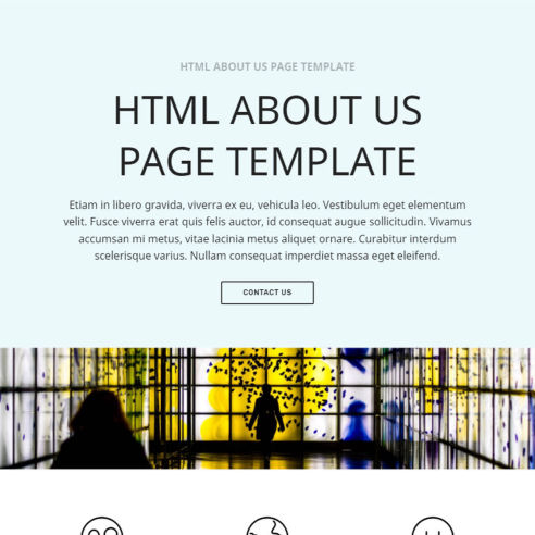 HTML About Us Page Template – Free Download