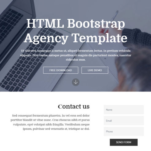 HTML Bootstrap Agency Template – Free Download