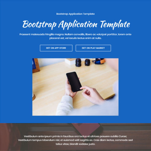 Bootstrap App Template – Free Download