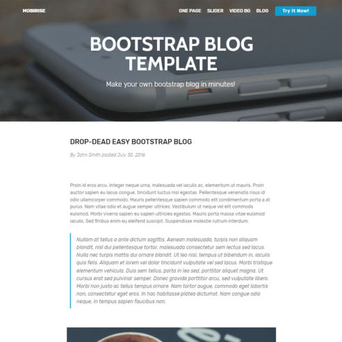 Bootstrap Blog Template – Free Download