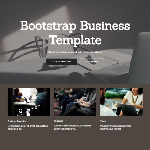 Bootstrap Business Template – Free Download