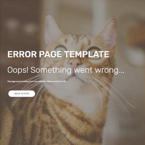 HTML Error Page Template – Free Download
