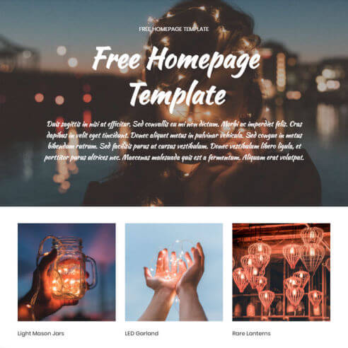Free Homepage Template – Free Download