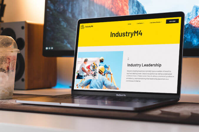 Mobirise Industry Website template