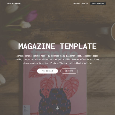 Magazine Template – Free Download