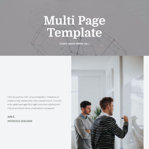 Multi Page Template – Free Download