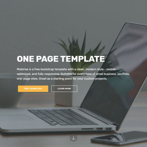 One Page Template – Free Download