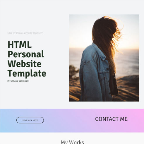 Personal Website Template – Free Download