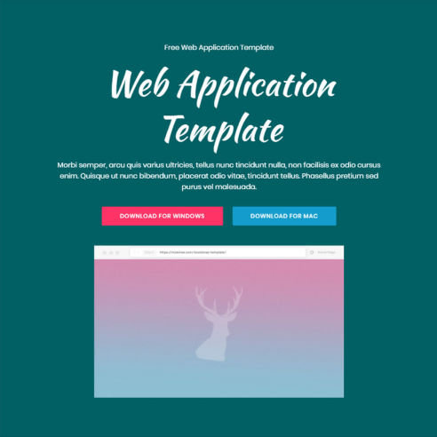 Web Application Template – Free Download