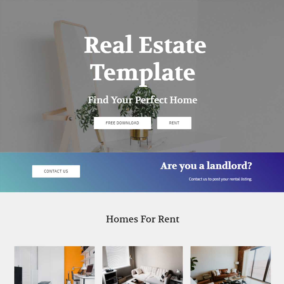 Responsive Real Estate Template – Free Download