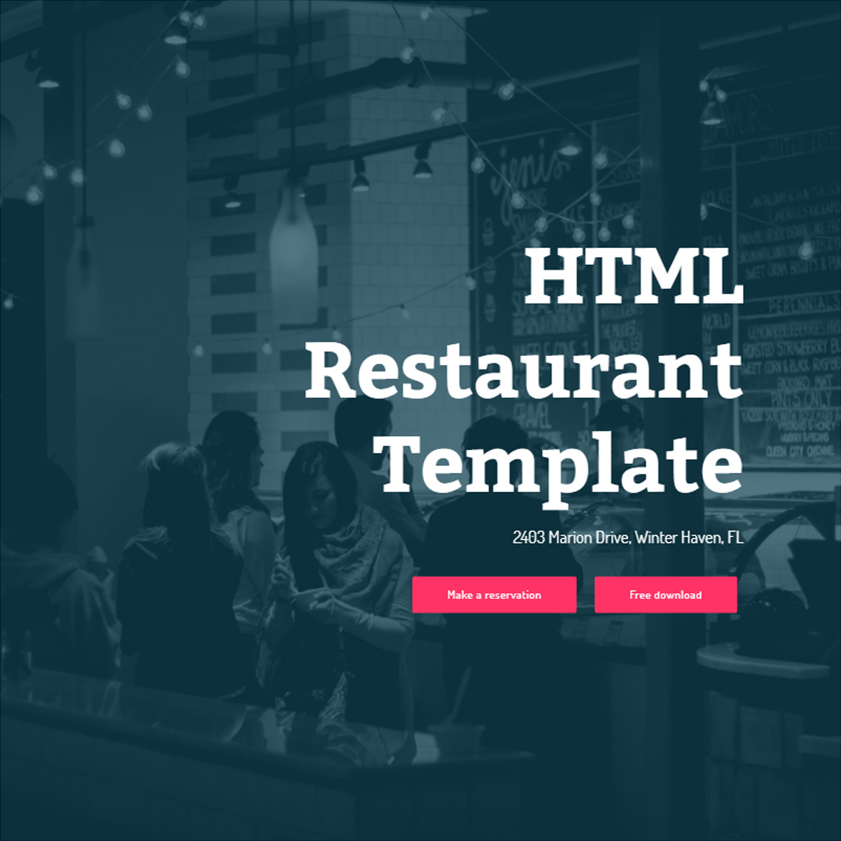 Bootstrap Restaurant Template – Free Download