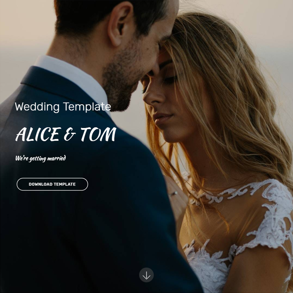 HTML Wedding Template – Free Download